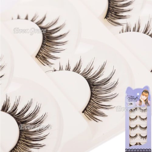 Pro Handmade Makeup Cosmetics False Eye Lash Long Curl Eyelashes Extention Salon