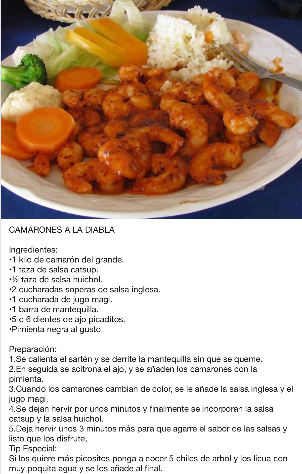 11 Ideas De Camarones Con Chile Camarones Comida Mexicana Recetas De Comida