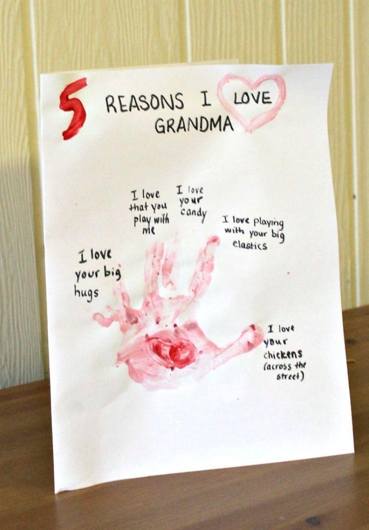 a preschool valentine craft for grandma (or mama | preschool, Ideas