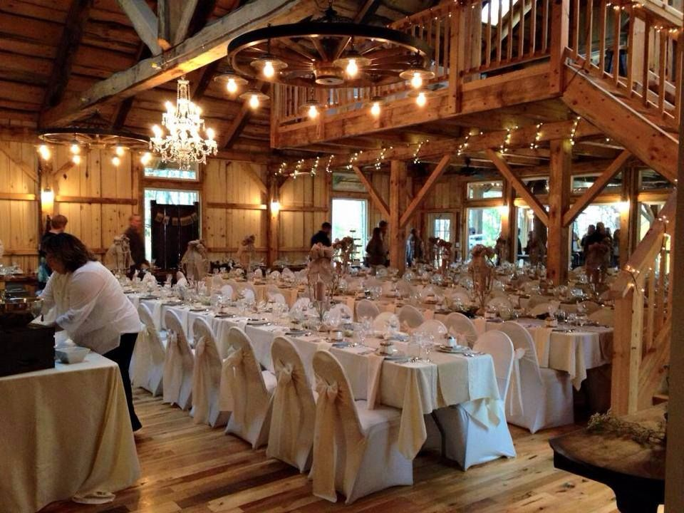 Interior Of The Grand Barn At The Mohicans With Animal Planet Treehouses Wedding Venue Prices Barn Wedding Barn Wedding Venue