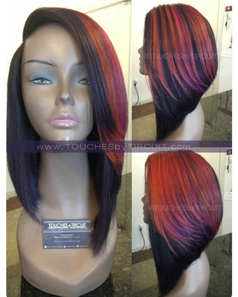 Love this cut not so much color lol c u t i t pinterest weave bob hairstyles is a good choice for you here you will find some super sexy weave bob hairstyles find the best one for you pmusecretfo Choice Image