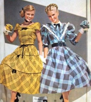 df7ab64c9041 1948 Aldens teen plaid dresses. More plaids. Teens couldn't get enough of  them.