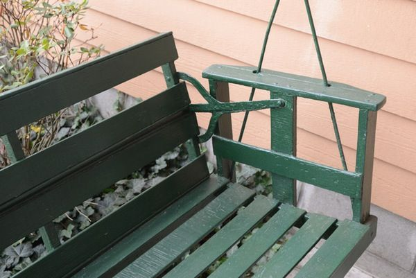 Wooden Porch Swing With Reversible Back Porch Swing Wooden Porch Diy Porch Swing