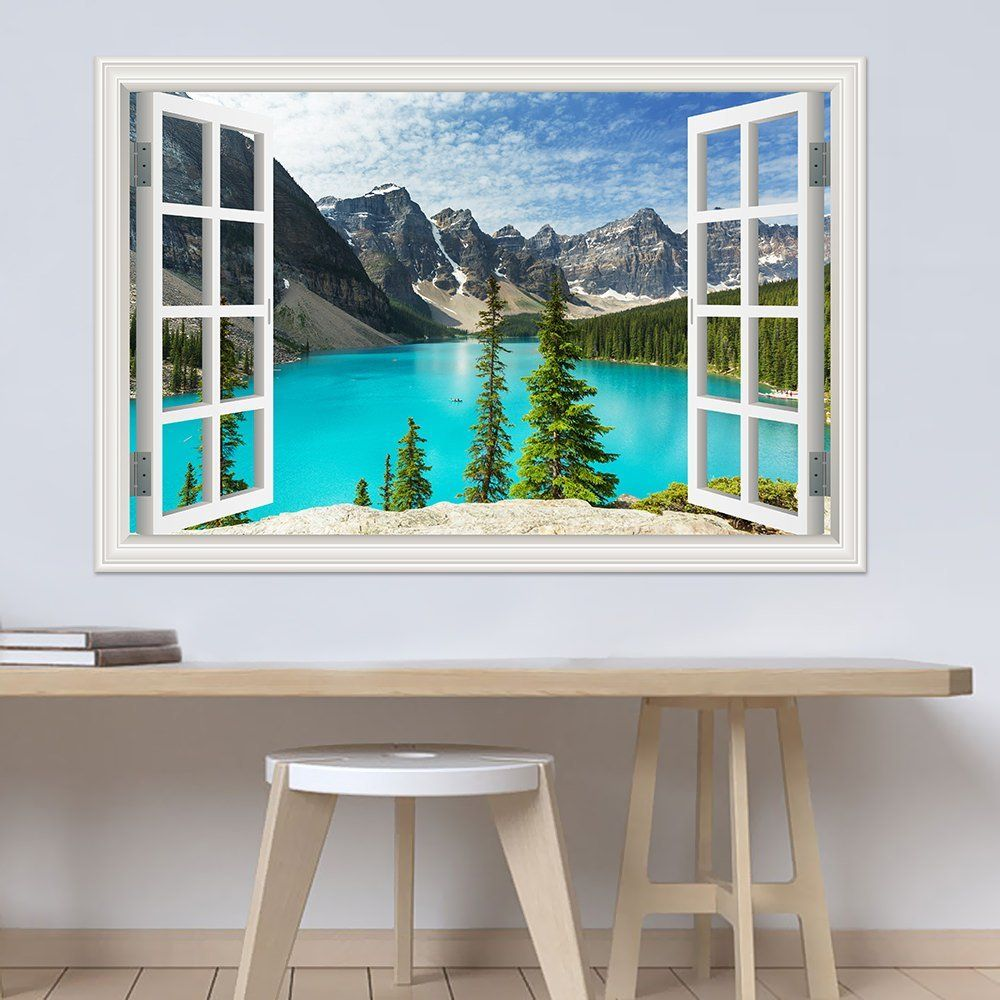 greathomeart peel and stick 3d wall decal sticker nuature on wall stickers for home id=27489