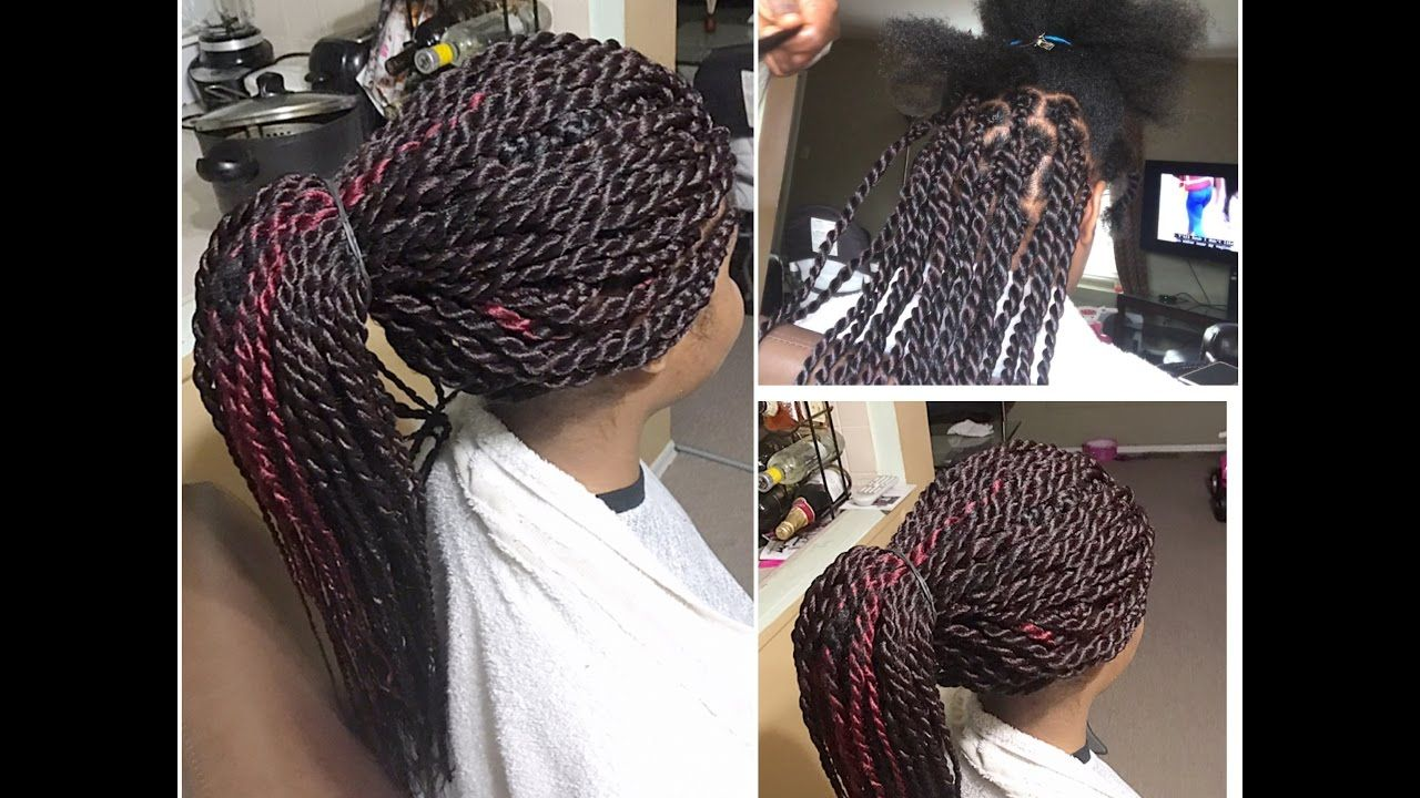HOW TO DO LARGE MEDIUM SENEGALESE TWISTS ON NATURA