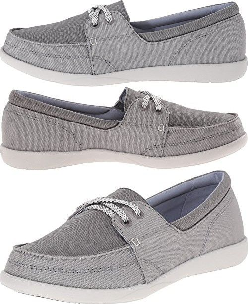 crocs Zapatillas Walu II Canvas Loafer Boat para mujer, Berry, 4 M US