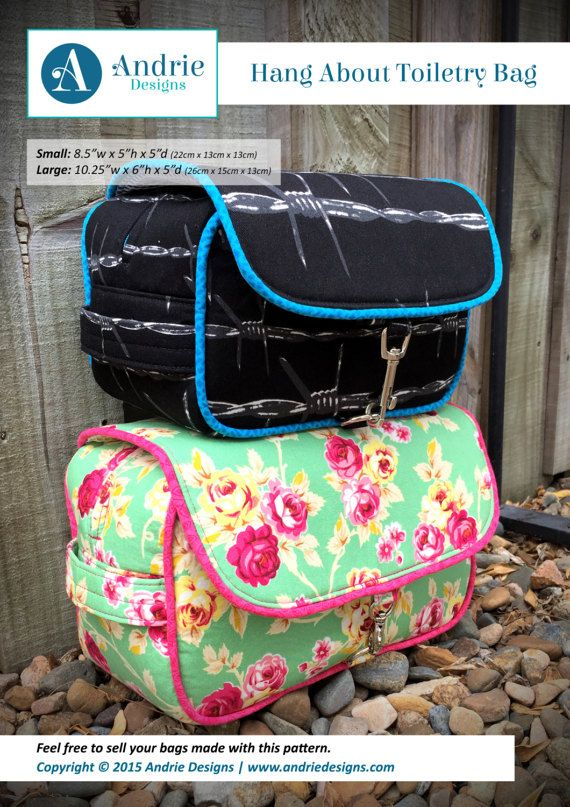 Toiletry bag pattern, Hang About Toiletry Bag, toilet bag, hanging ...