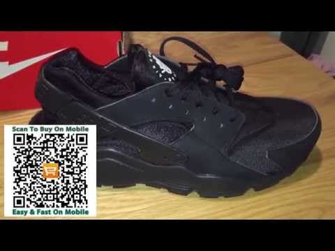 best service 67eff 5480a ... low cost triple black nike air huarache on feet trainers review  aliexpress ceed1 f7be1