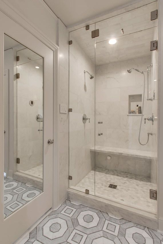 One Room Challenge Master Bathroom And Closet Reveal Simplified Bee Steam Room Shower Shower Tile Bathroom Shower Panels