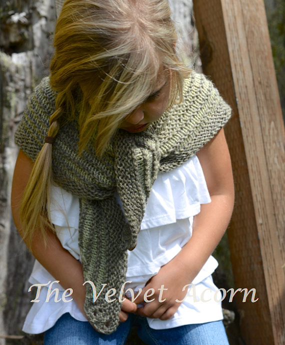 KNITTING PATTERN-The Bramble Shawl (Small, Large)   Chal, Pequeños y ...