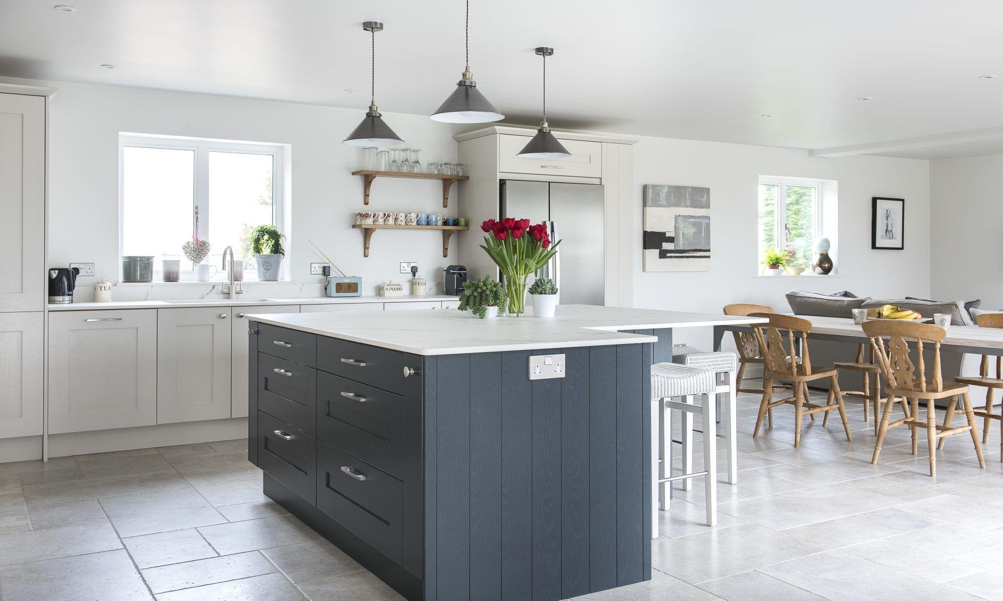 A classic monochrome kitchen, contemporary but still cosy