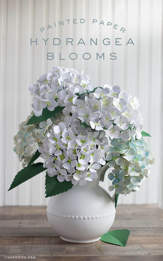Diy Paper Hydrangea Flowers Paper Flowers Diy Paper Flowers Diy Flower Projects