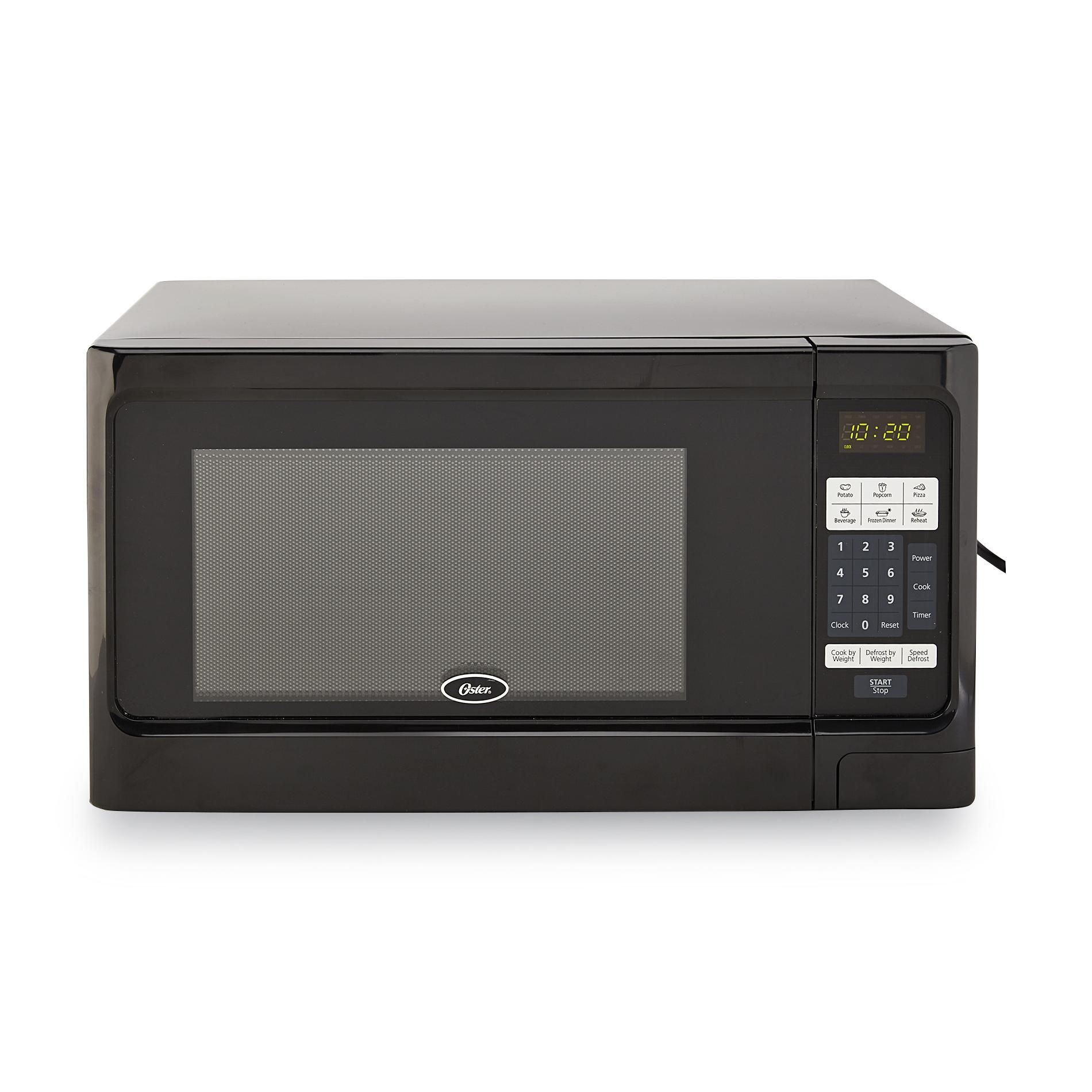 Cook Fast And Easy With The Oster 1 1 Cubic Feet Digital Countertop Microwave Oven Six One Touch Preset Buttons Countertop Microwave Oven Countertop Microwave