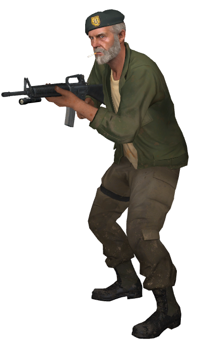 Left 4 Dead Bill An Ex War Hero And One Of The Most Fave Characters Left 4 Dead Fun To Be One Apocalypse Character