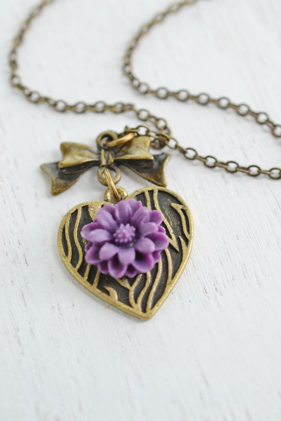 Ribbon Necklace,Flower Necklace,Daisy Flower necklace,Heart Jewelry, Bridesmaid Gift, Flower Blossom, Cabochon, Resin Flower, Bridal Wedding