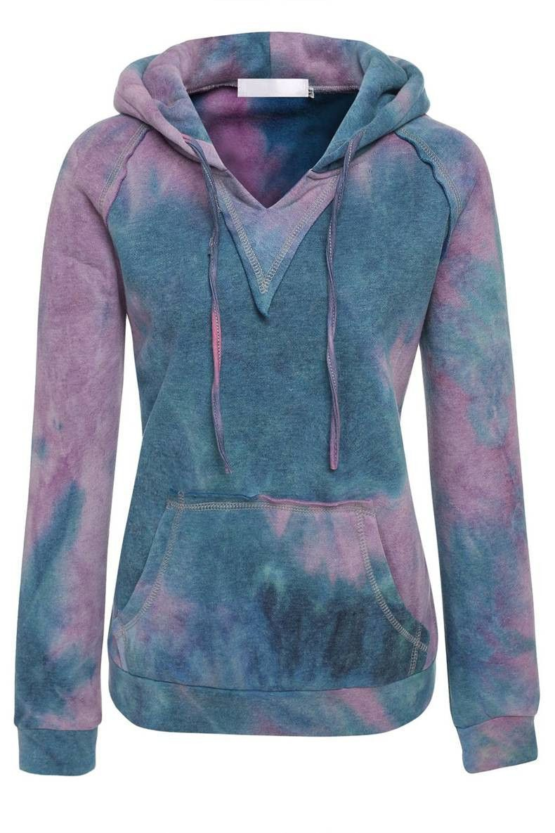 Women's Hooded Pullover Blend Fleece colorful long sleeve Skateboarding Hoodies for women