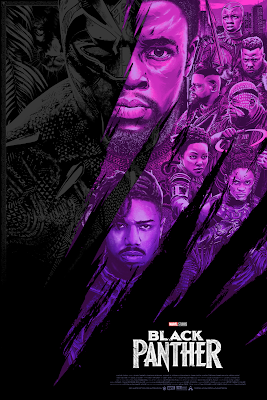 Anthony Petrie Black Panther Movie Poster Release By Grey Matter Art