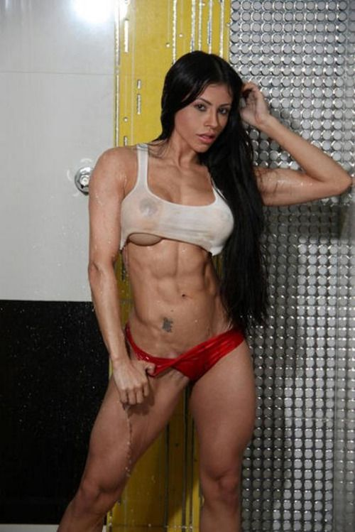 Busty fitness model nude, no panties hot women naked