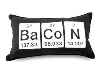 Bacon pillow geeky periodic table gift science chemistry home bacon pillow geeky periodic table gift science chemistry urtaz Images