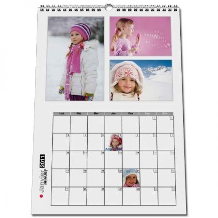 calendrier photo personnalisé, calendrier personnalisé 2021