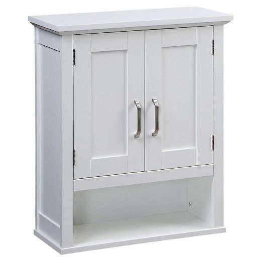 21 Pounds Br The Clean Lines Of This Shaker Style Wood Wall Cabinet From Threshold Will Calm Clutter And Your Mind Bathroom Storage
