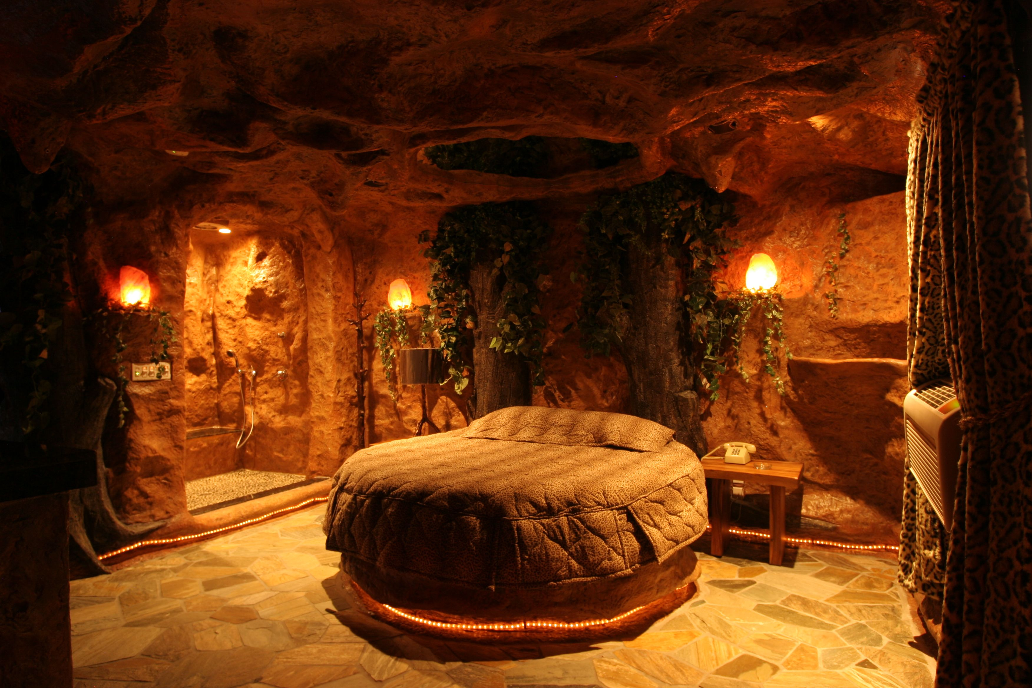 A Tour Of The Cave Room Fantasy Hotel Themed Hotel Rooms Space