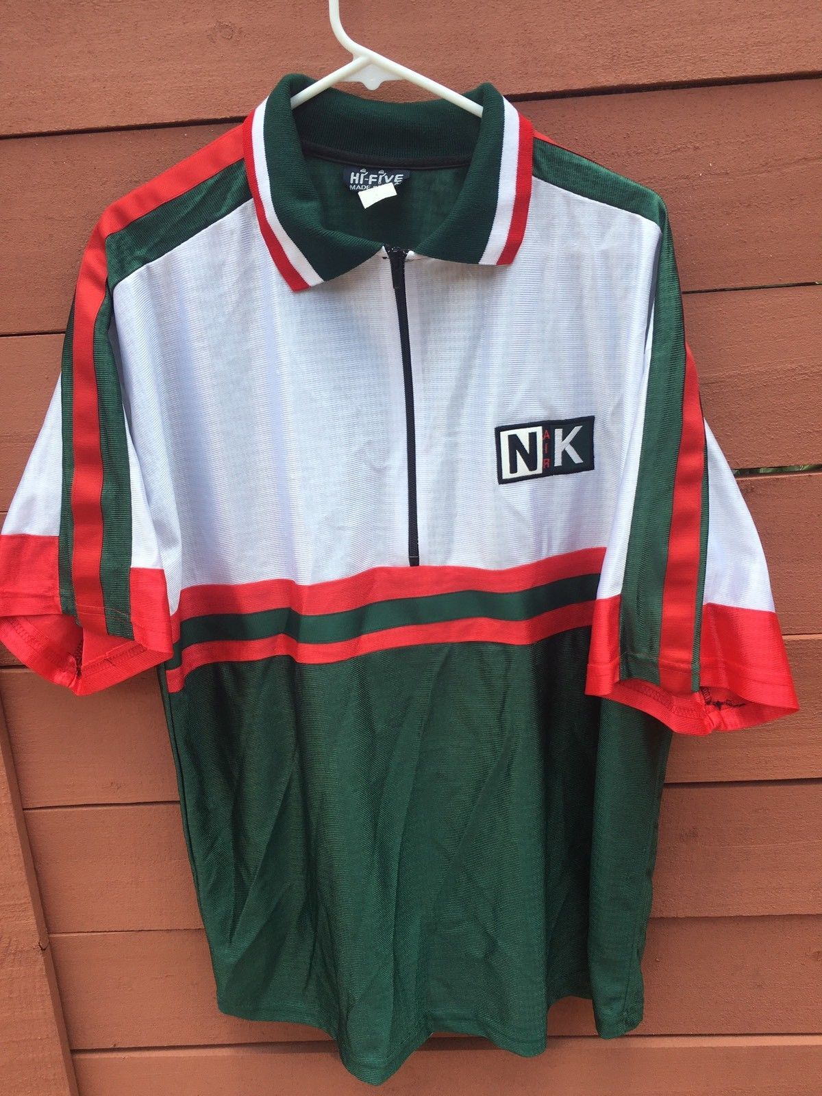 a84702d533e71 Vintage 90s Bootleg Nike Polo Green Red Size Large