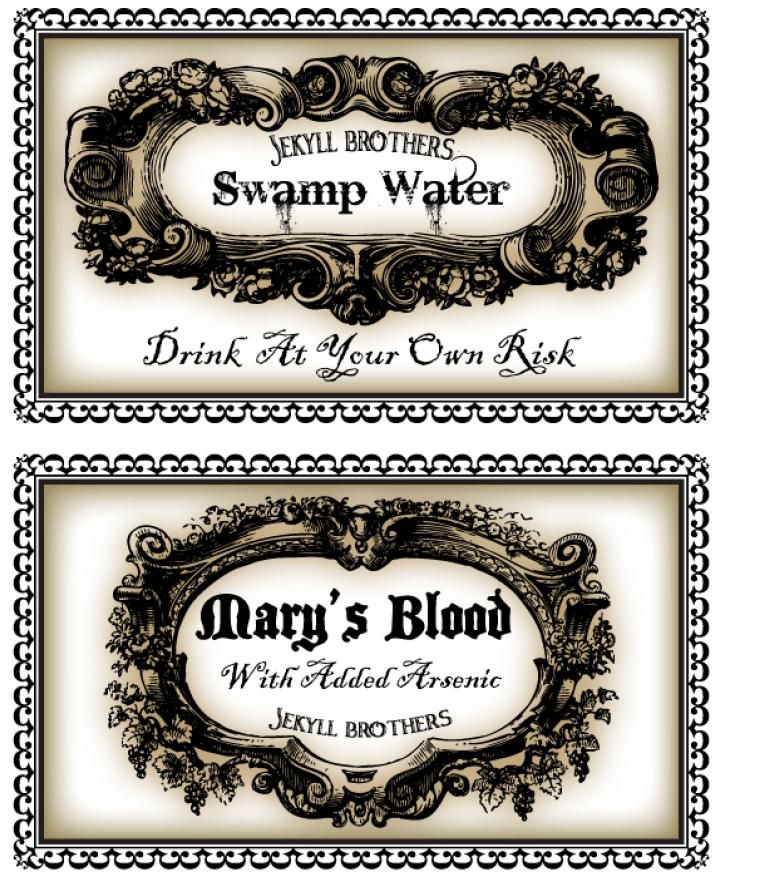 free printable labels halloween