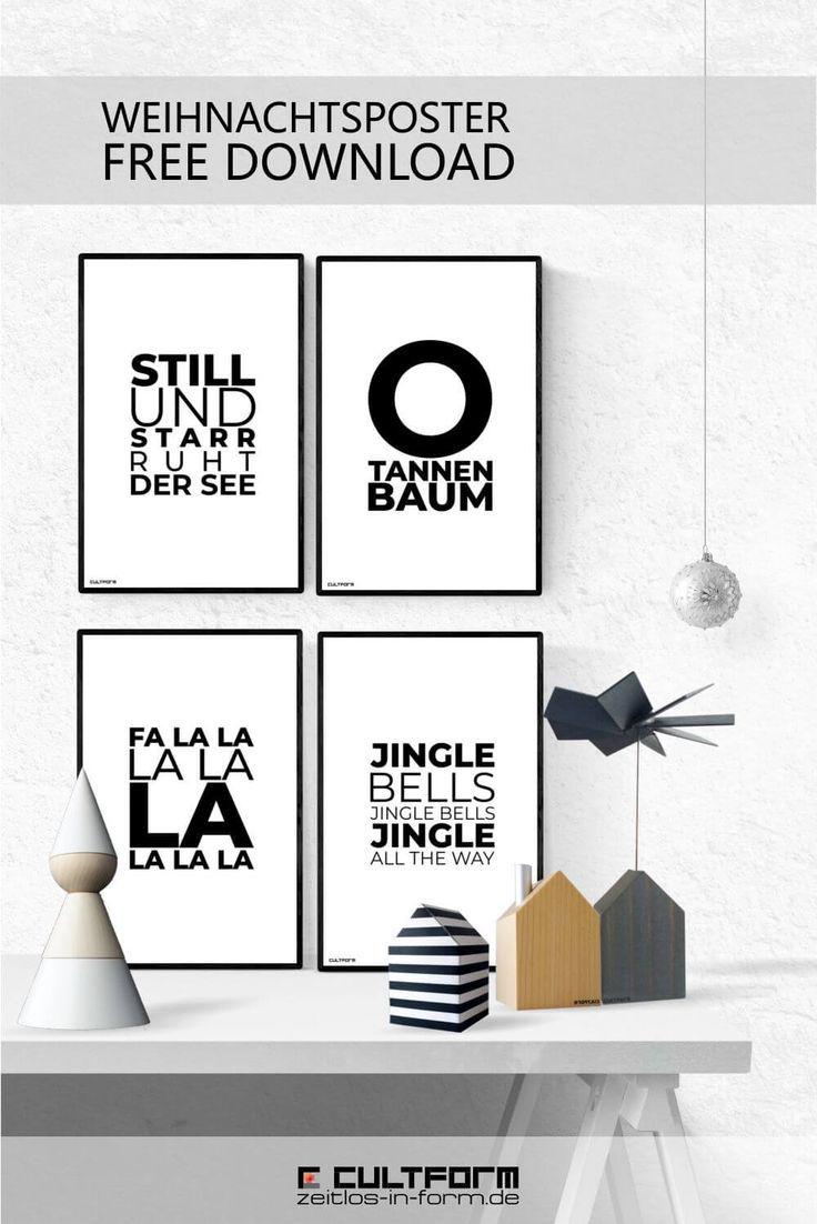 Weihnachtsdeko mit Typografie