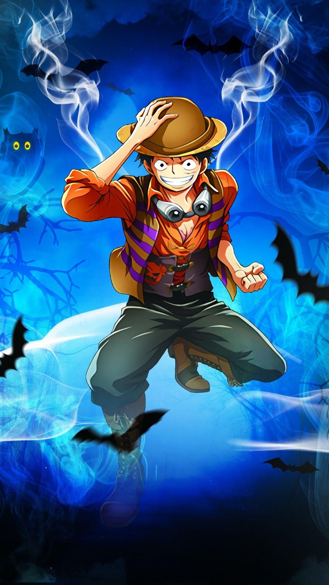 Download 1080x1920 Monkey D. Luffy, Straw Hat Pirates, One