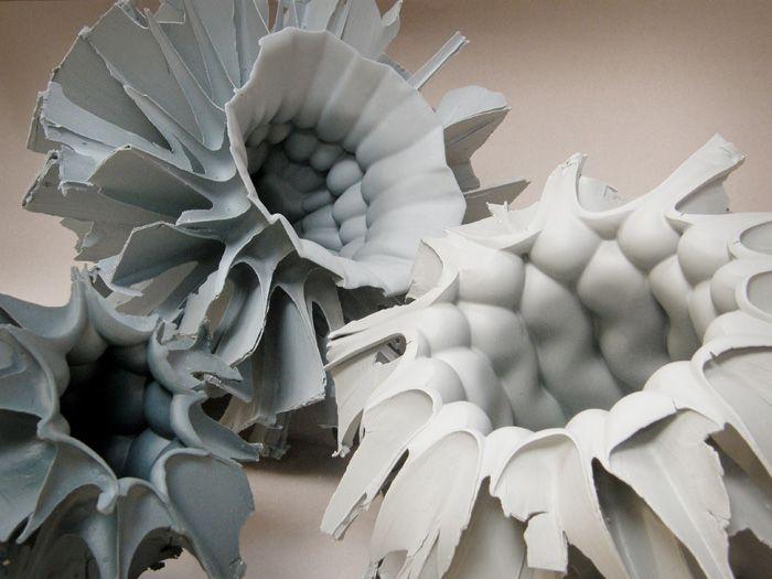 Zsolt Jozsef Simon, Porcelain, 1310°C reduction and coloured semiporcelain, 1220°C oxidation