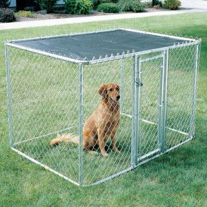Midwest Chain Link Portable Kennel With Sunscreen Portable Dog