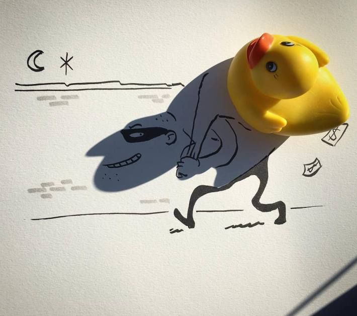Shadows of common objects become funny illustrations with Vincent Bal