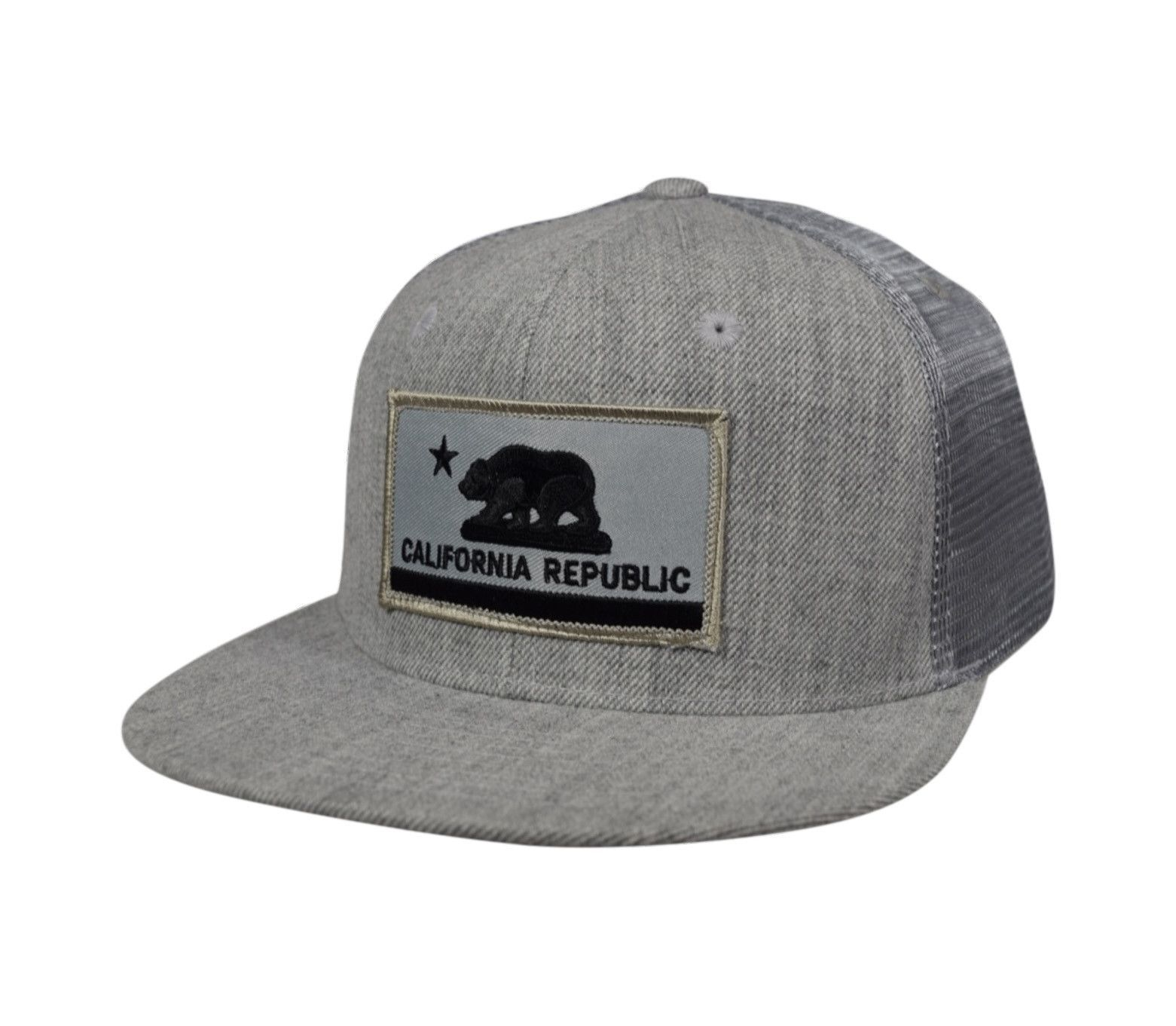5bd47e220d7d9 ... cap with adjustable norway california republic flag trucker hat by lets  be irie heather gray d0ddd 0e5b4 ...