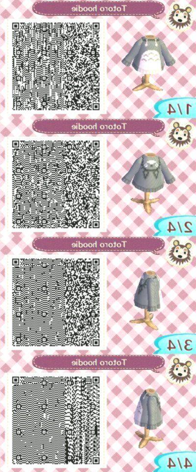 Qr Code Totoro Hoodie Animal Crossing New Ideas In 2020 Animal Crossing Game Animal Crossing Qr Codes Clothes