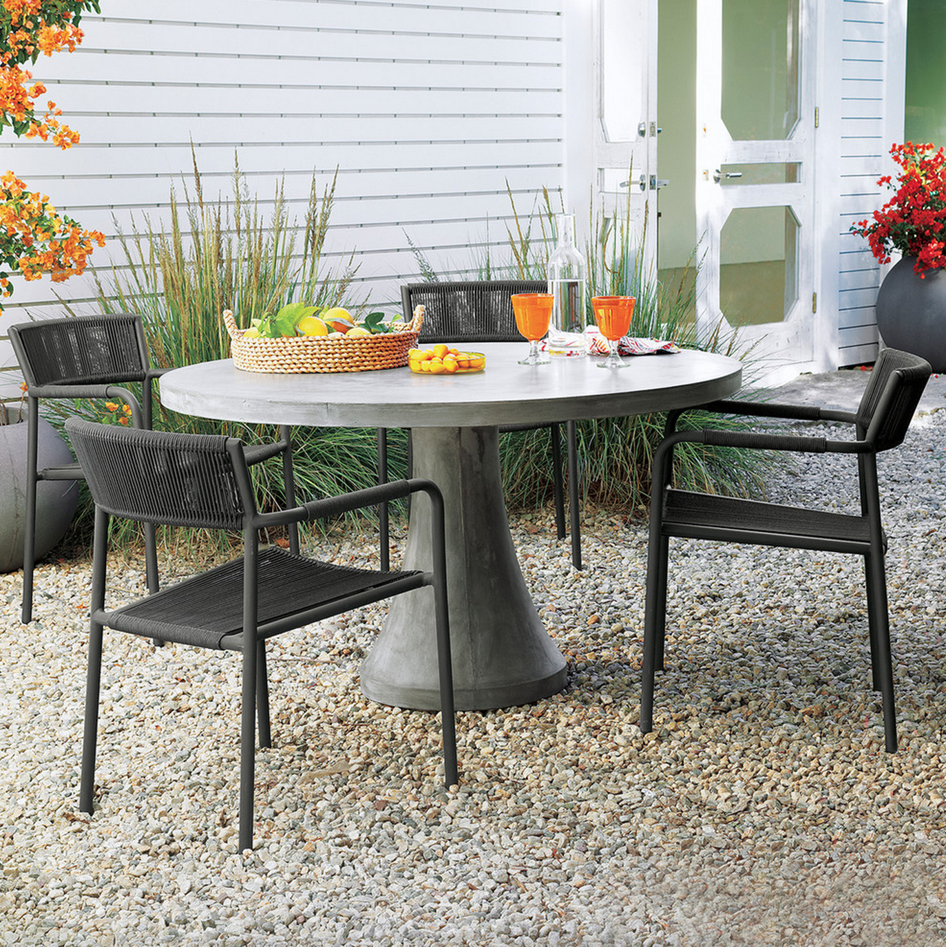 Morocco Concrete Dining Table In Morocco Outdoor Dining Concrete Dining Table Outdoor Dining Chairs Patio Dining Table