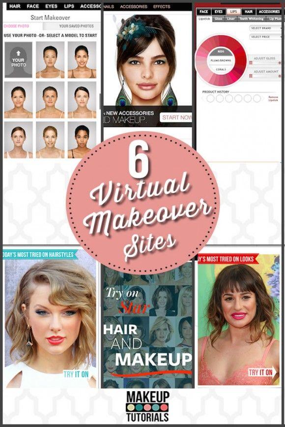 Makeup Tutorials 6 Virtual Makeover Sites Makeup Tutorials Virtual Makeover Virtual Hair Makeover Makeup Tutorial