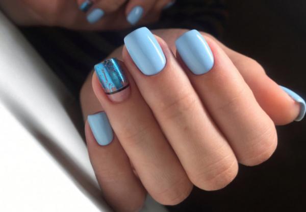 Идеи для маникюра синий оттенок