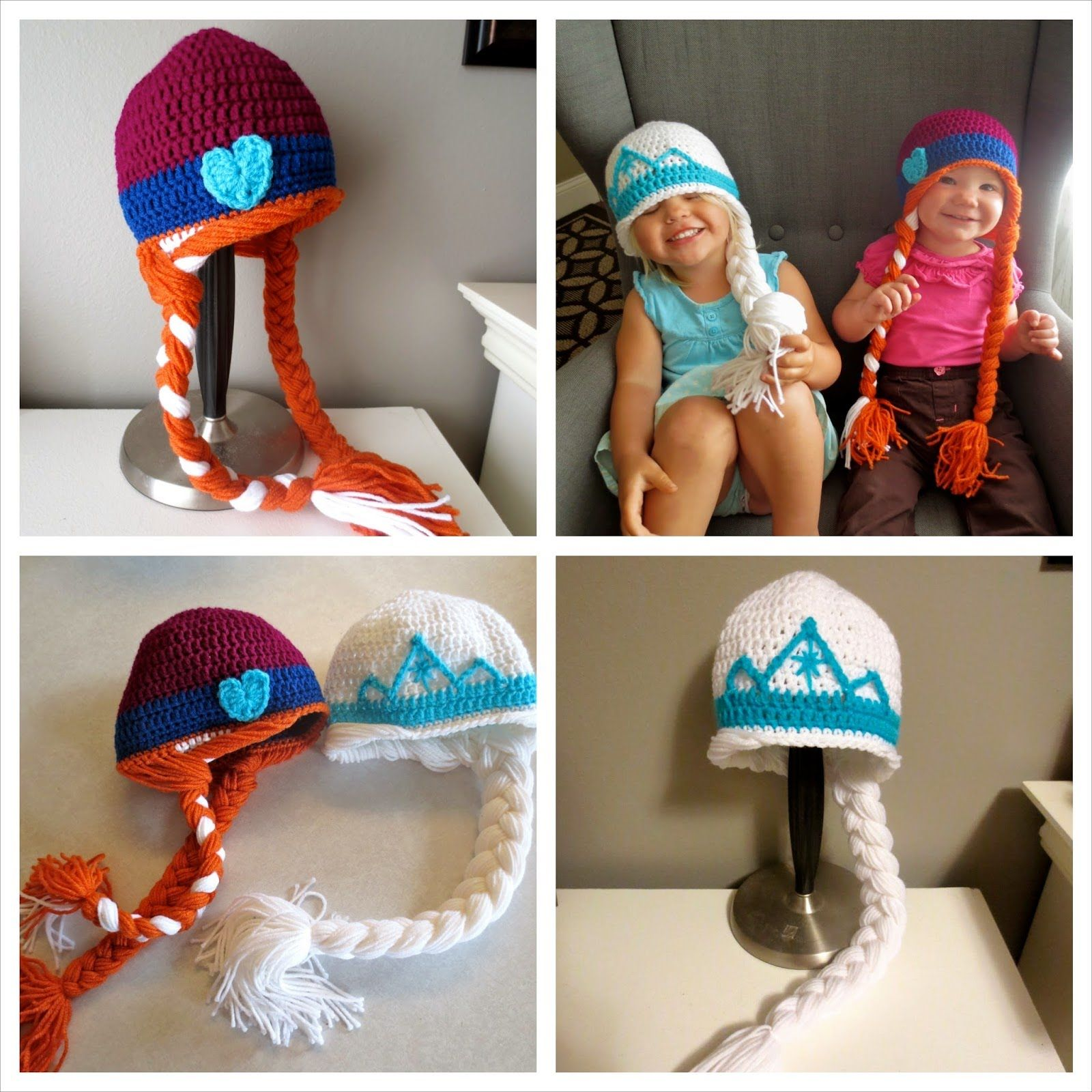 Easy Step By Step Frozen Inspired Anna Elsa Crochet Hat Tutorial