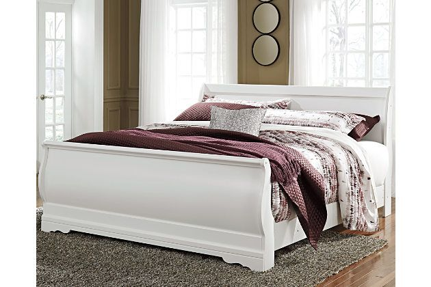 Best The Anarasia King Sleigh Bed S Crisp Cottage White Gives 400 x 300