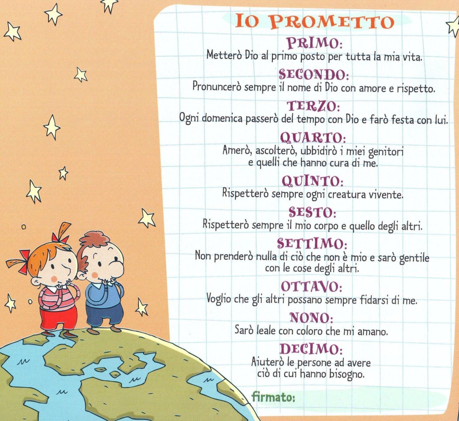 Scheda bambini promettto dieci comandamenti html m64755c69 idee catechismo scuola - Tavole dei dieci comandamenti ...
