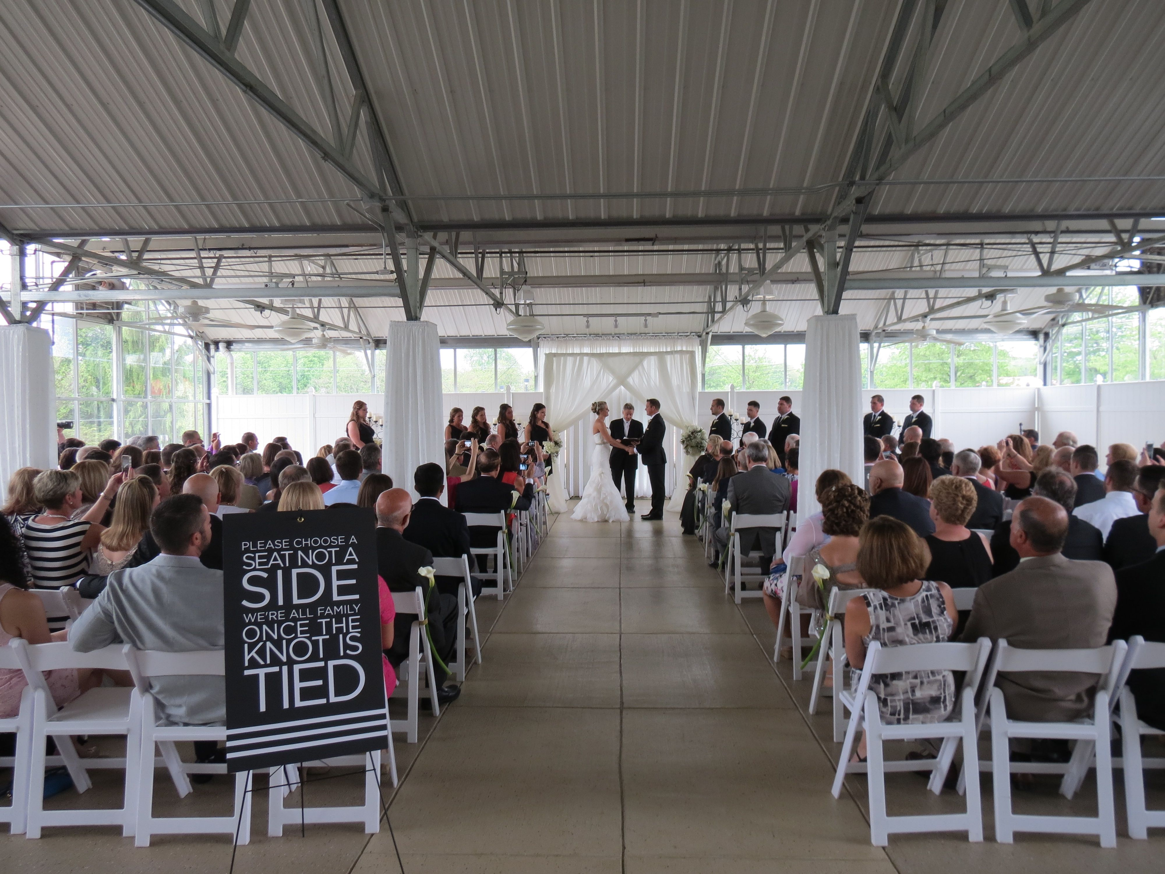 Greenhouse Wedding Ceremony at The Atrium