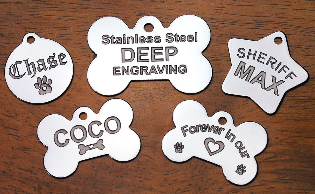 Pin by Pawsitively Pet Tags on DEEP Engraved Stainless