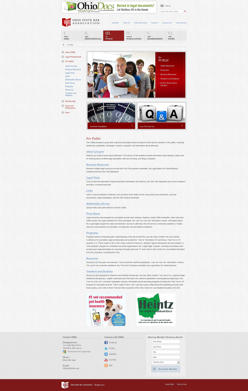 Ohio State Bar Association Websitedesign Webdesign Graphicdesign Website Design Web Design Graphic Design