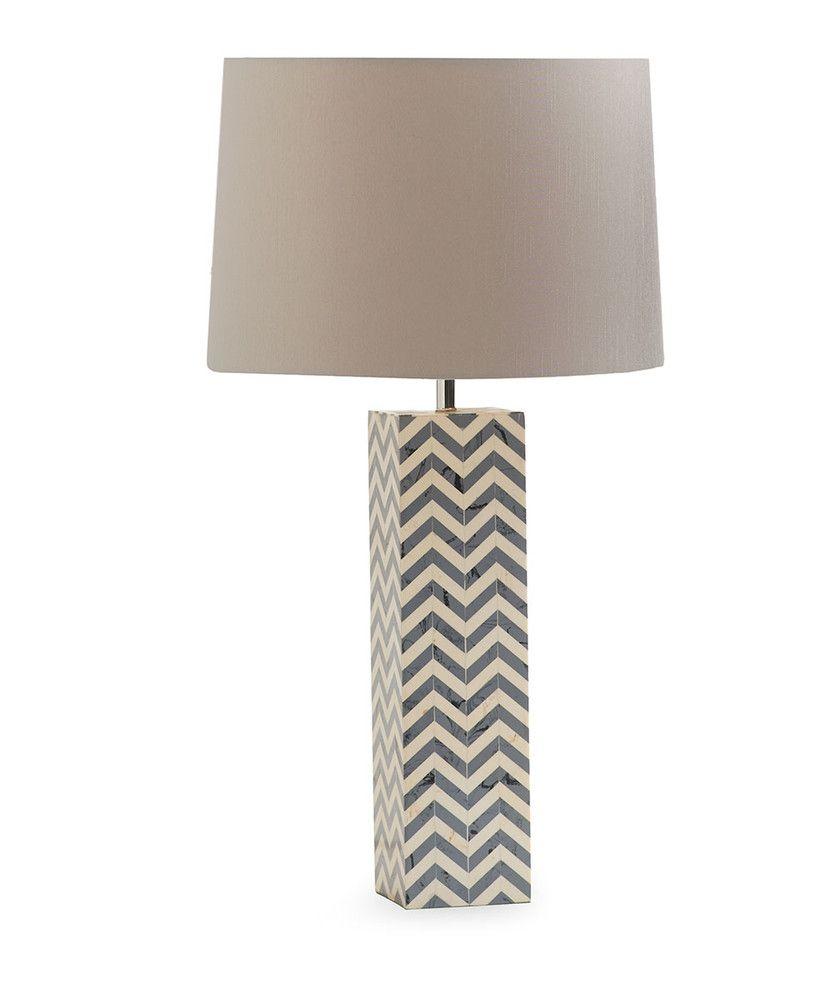 Gray Chevron Lamp   Grey chevron and Floor lamp