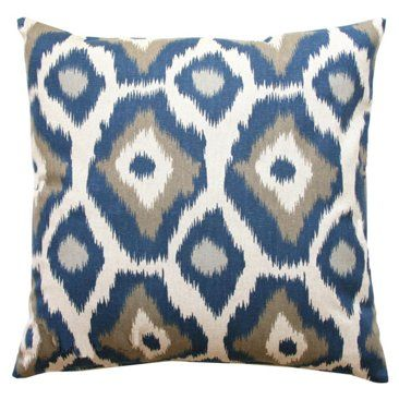 Check out this item at One Kings Lane! Zenith 18x18 Cotton Pillow, Blue