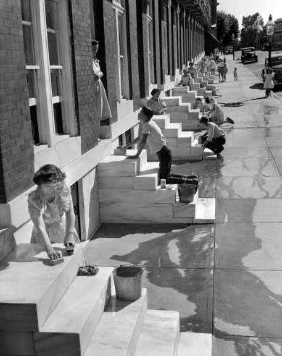 Cleaning Those Marble Steps In Baltimore Arkitektur