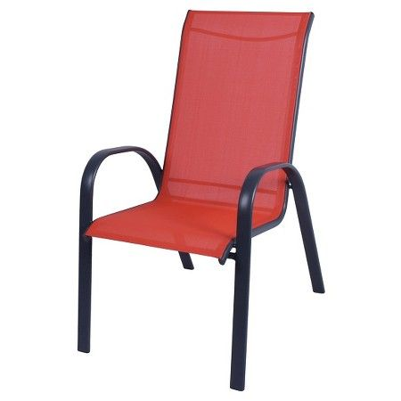 Captivating Stack Sling Patio Chair Coral   Room Essentials™ : Target. Not Really Red.