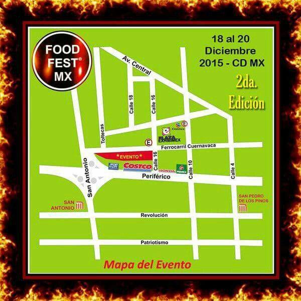 Hubicación del #foodfestmx