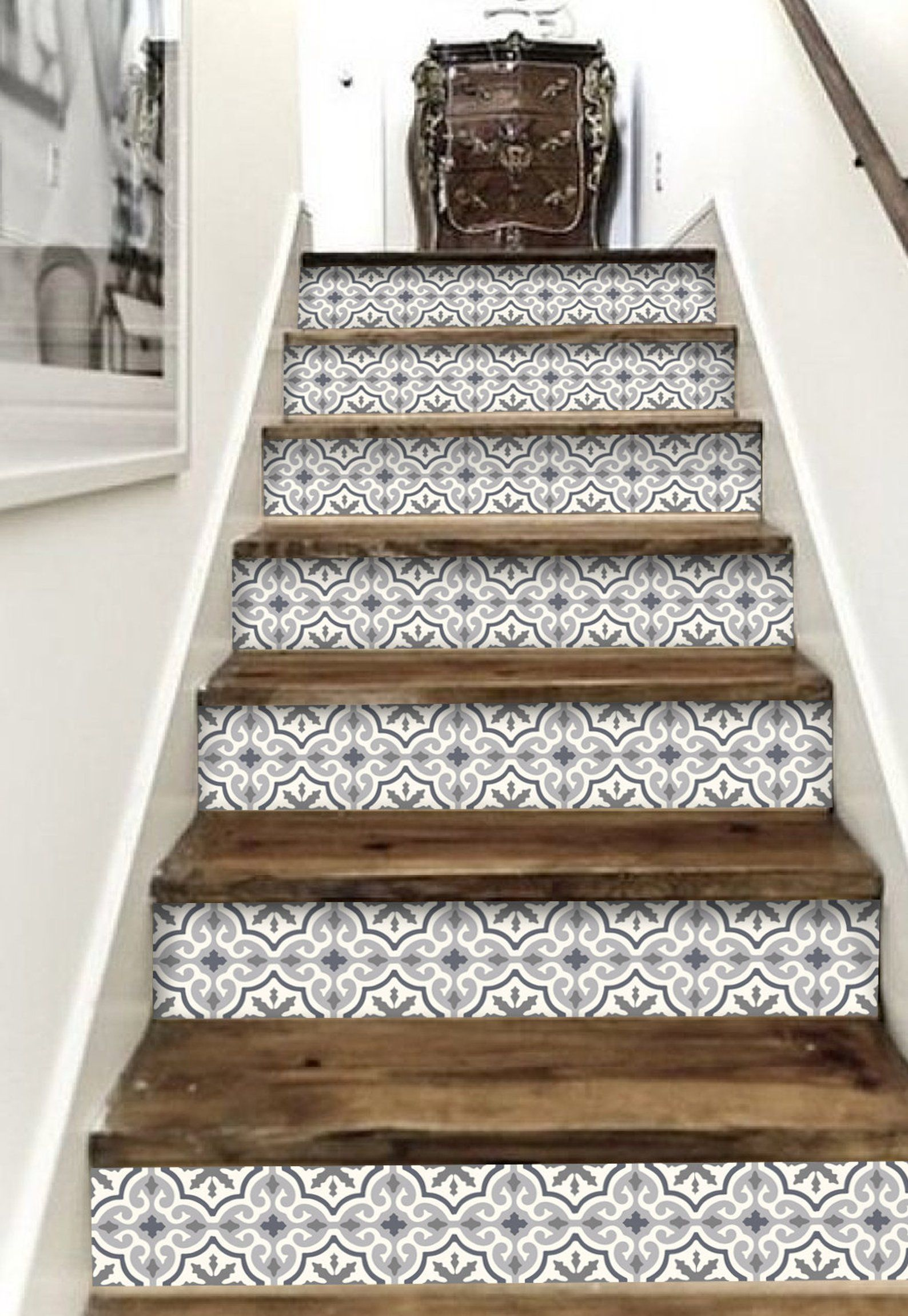 Best Home Decor Stair Riser Vinyl Strips 15 Steps Removable 400 x 300